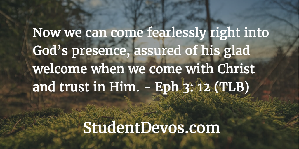 Daily devotion on God's love Eph 3:12