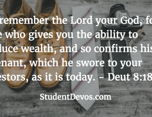 Daily Bible Verse and Devotion - Ability to Get Wealth