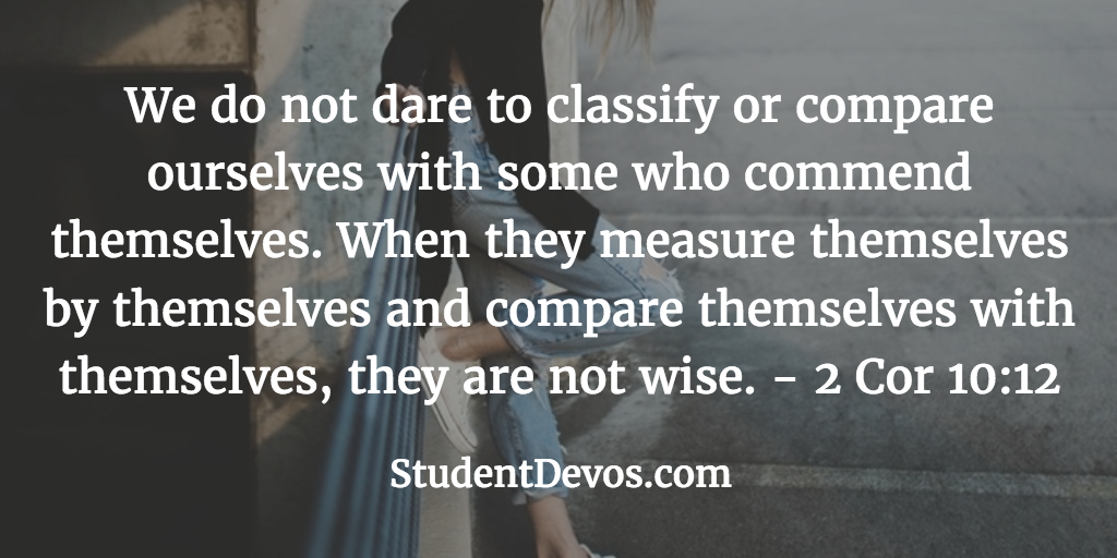 Daily Bible Verse and Devotion on Comparison for Teens