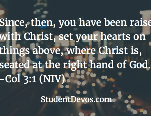 Daily Devotion and Bible Verse on Collossians 3:1