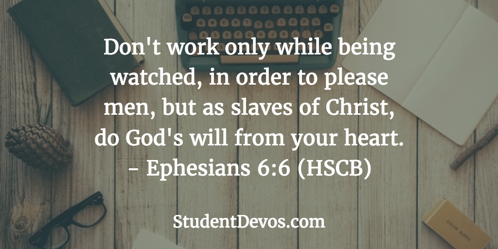 Daily Bible Verse and Devotion - Teens Job Work