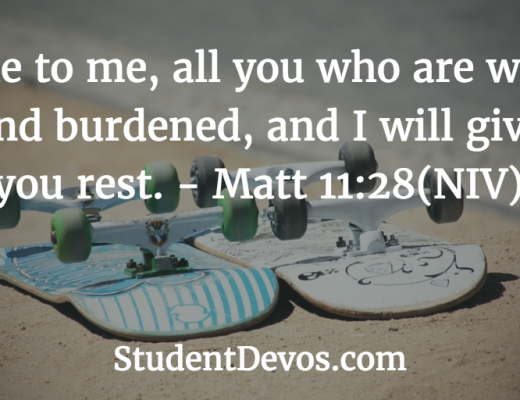 Daily Bible verse and devotion Matthew 11:28