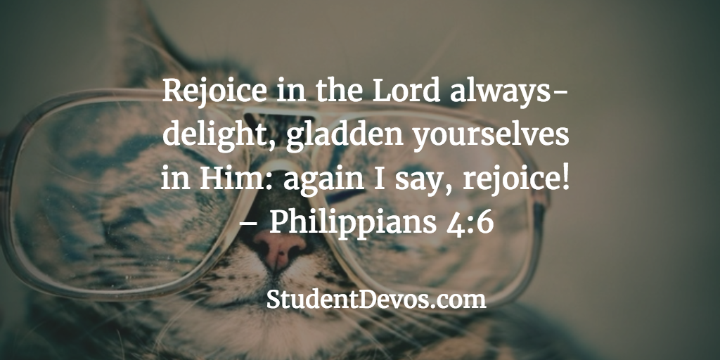 daily devotion bible verse rejoicing being happy devotions for