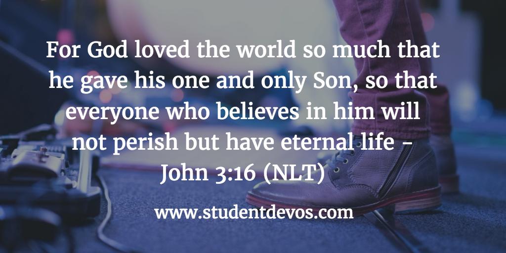 Youth Devotion - God's Love John 3:16