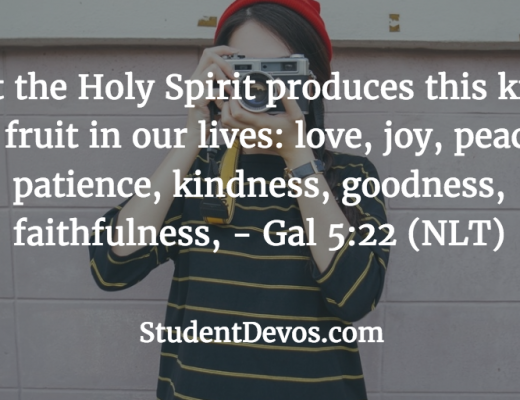 Daily Bible Verse and Devotion for Teens and Youth on the Fruit of the Spirit