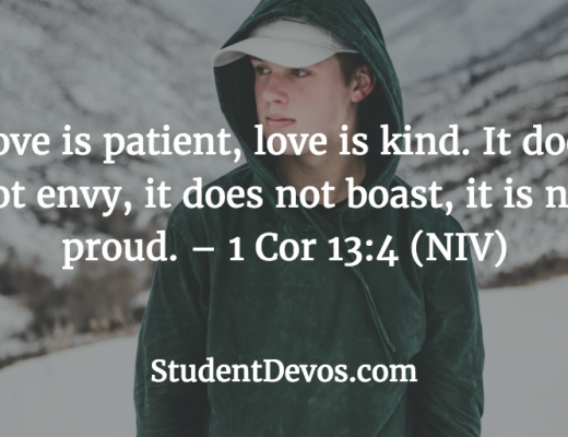 Teen Devotion and Bible Verse on Loving Others