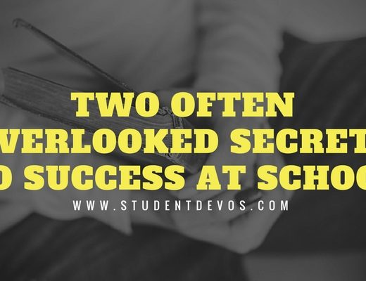 Youth and Teen Devotion - Two Often Overlooked Secrets to Success at School