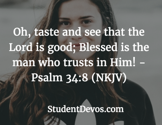 Teen and Youth Bible Verse on Trusting God