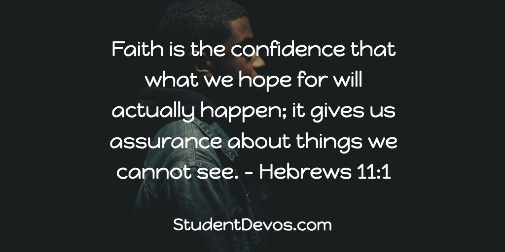Teen Devotion on Faith