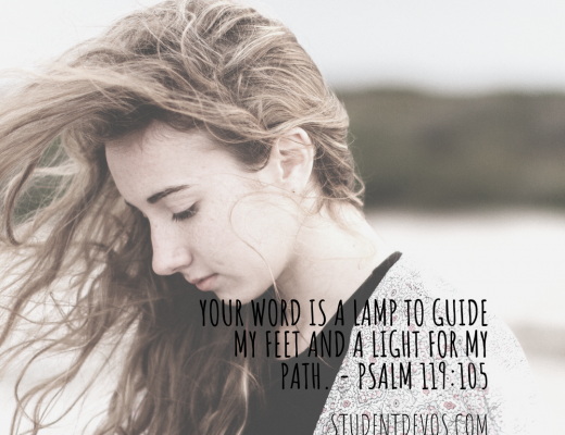 Teen Devotion and BIble Verse on God's word leading and guiding you