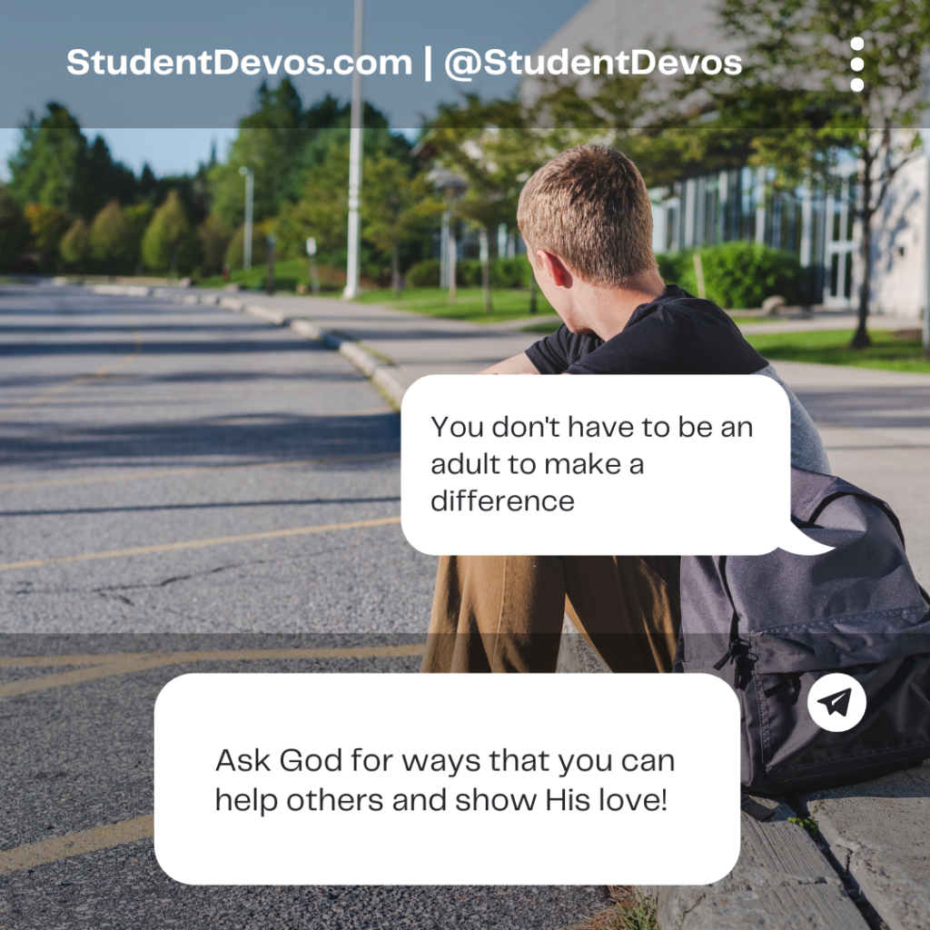 Teen devotion on making a difference