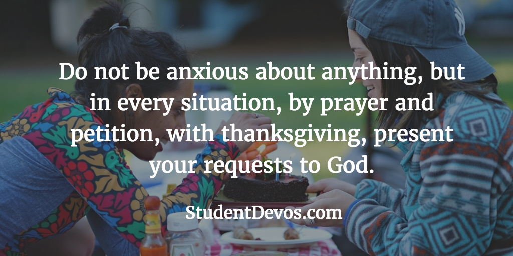 Daily Bible Verse and Devotion - On ANxiety
