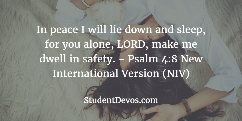 Youth and Teen Devotion on Peace Psalm 4:8 Parent Divorce