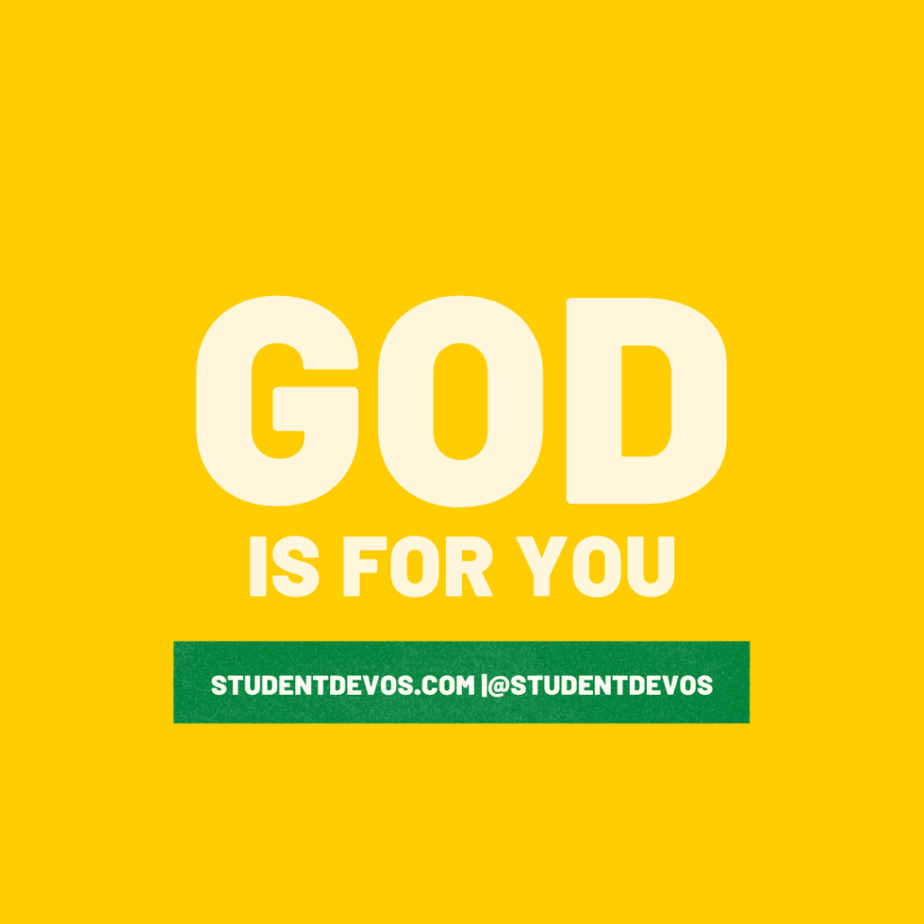 God is for you teen devotion