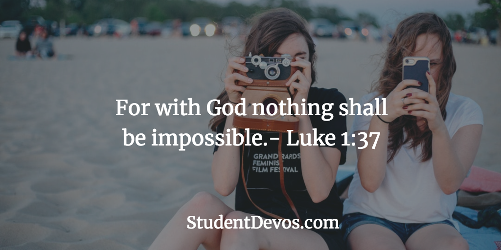 Daily Bible Verse and Devotion Teens Goals New Year