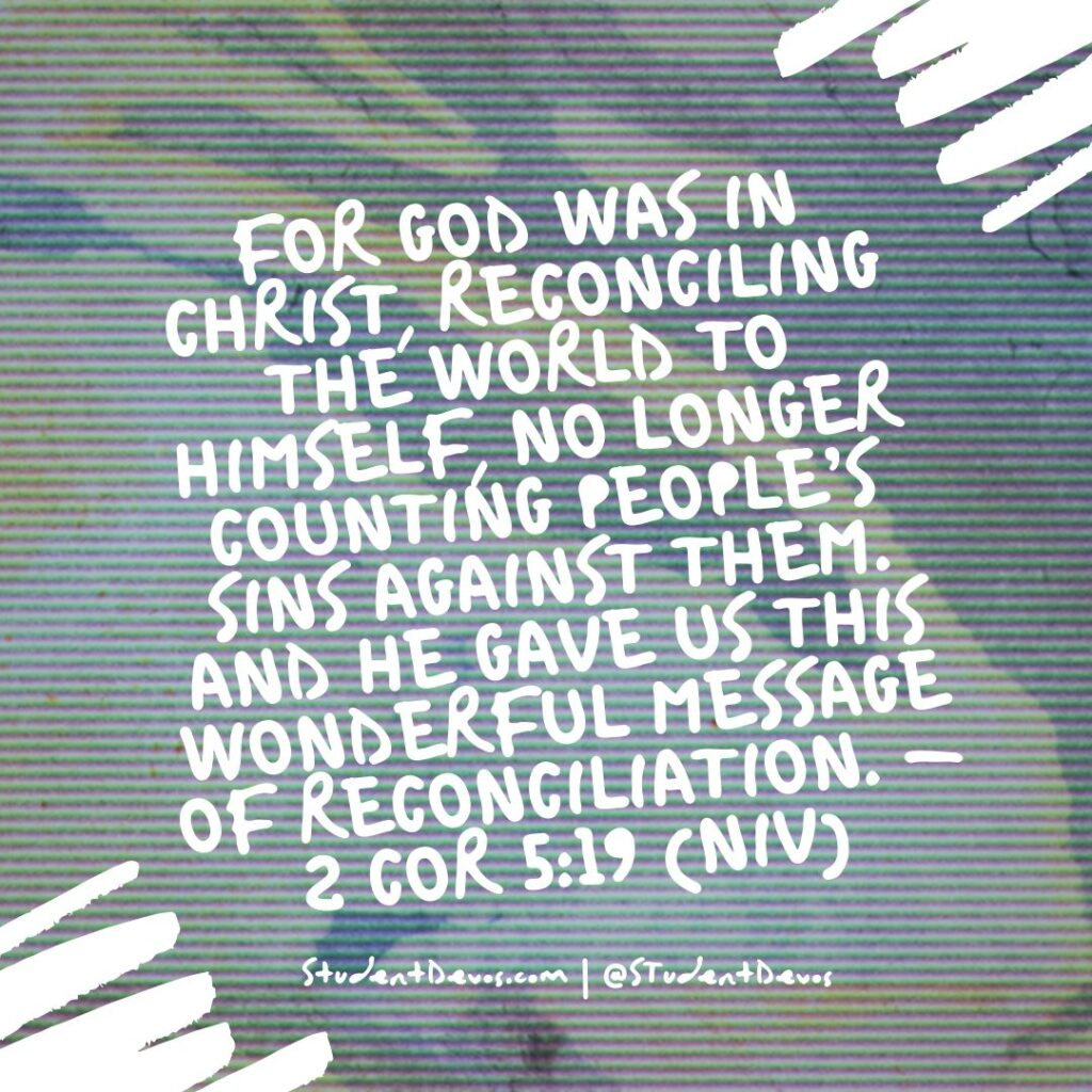 Teen Devotion 2 Cor 5:19