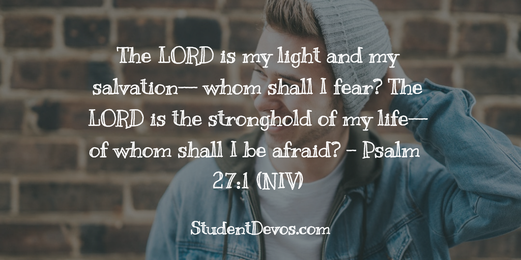 BIble Verse for Teens Psalm 27:1