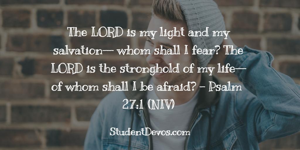 BIble Verse for Teens Psalm 27:1