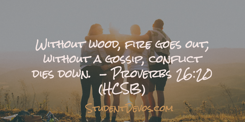 Devotion and Bible Verse on Gossip