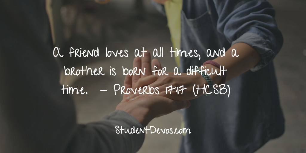 Devotion for Teens - Friend Loves at all times