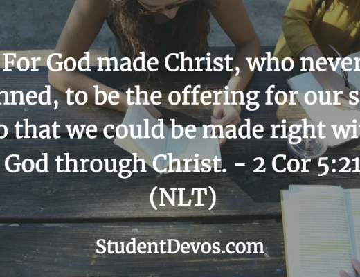 Daily Devotion Bible Verse for Teens on Righetousness