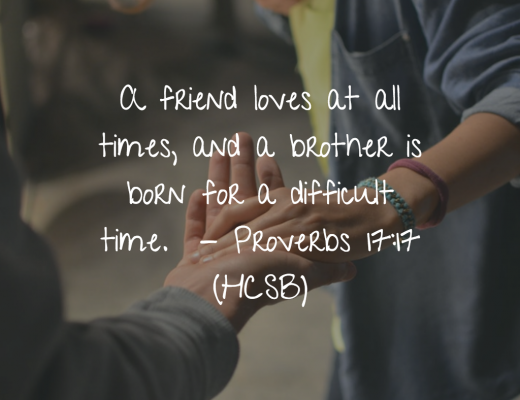Teen devotion and Bible Verse about a friend loving at all times