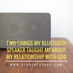 Image of Bluetooth speaker for teen devotion