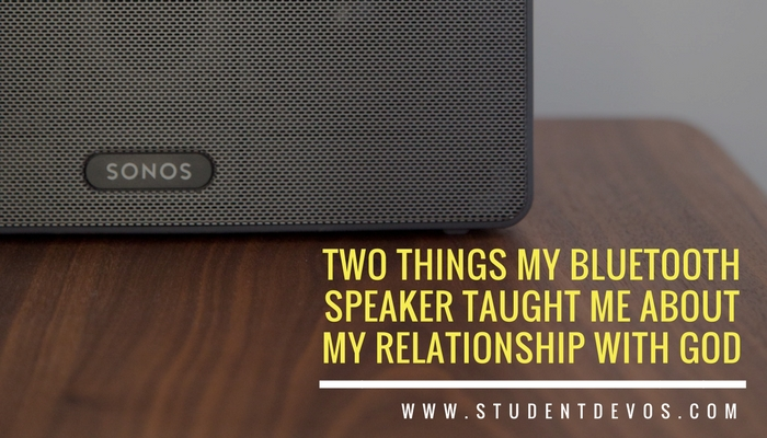 Image of Bluetooth speaker for a teen devotion on relationship with God