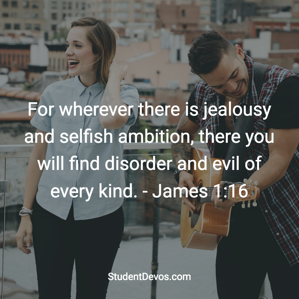 Daily Bible Verse and Devotion - James 1:16 | Student Devos