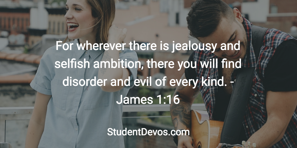 Daily Bible Verse and Devotion for Teens - Jealousy Comparison