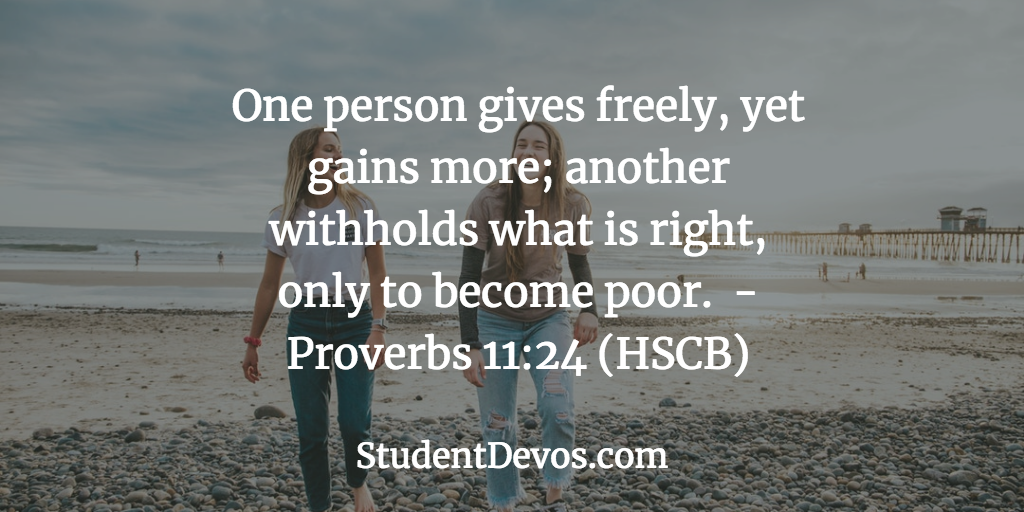 Daily Bible Verse for Teens About Giving