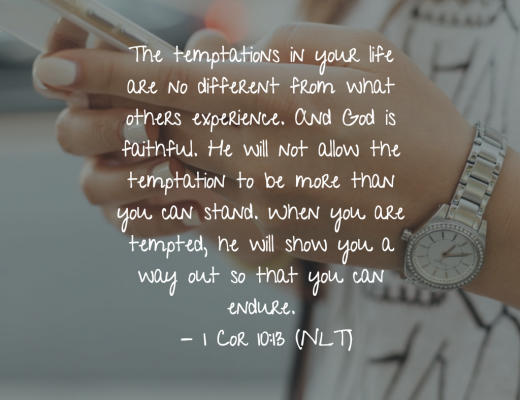 Daily Bible Verse and Devotion on Temptation
