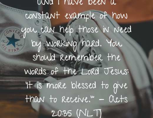 Daily BIble Verse and Devotion - Giving
