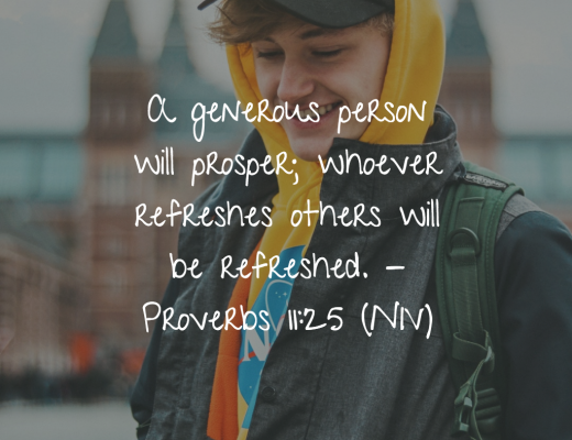 Daily Bible Verse and Devotion for Teens on Being generous