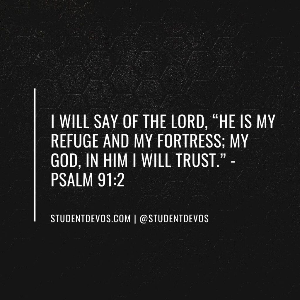 Teen Devotion on Psalm 91