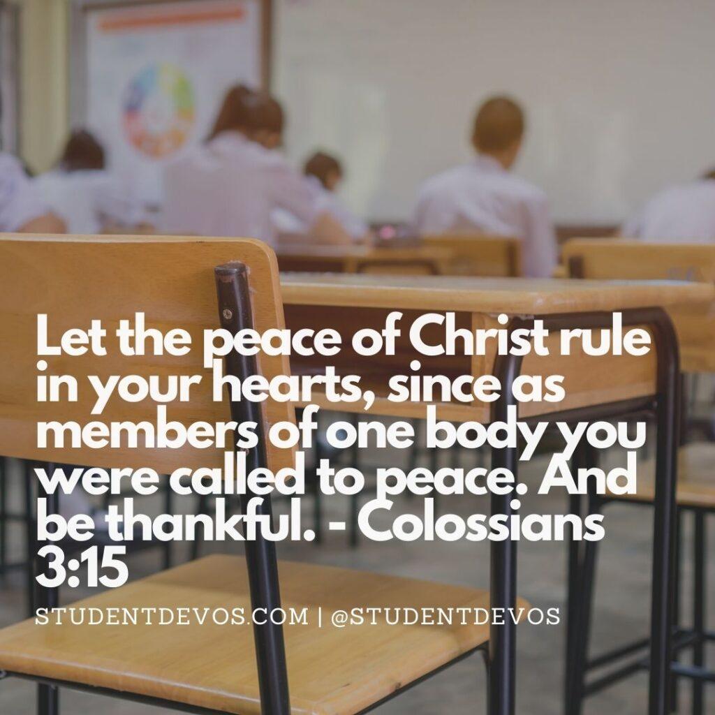 Colossians 3:15 Peace