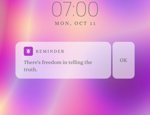 Icon for there's freedom in telling the truth