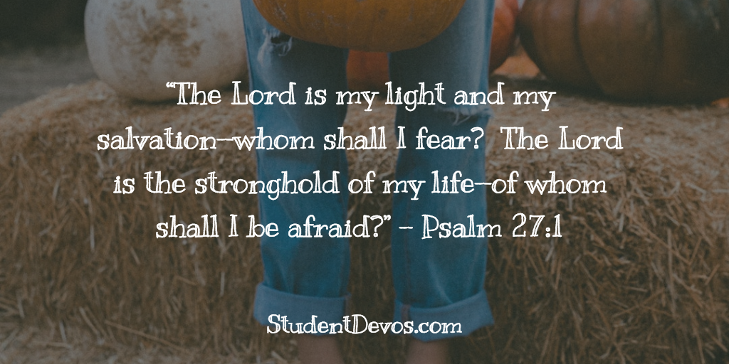 Teen Daily Devotion and Bible Verse on Fear