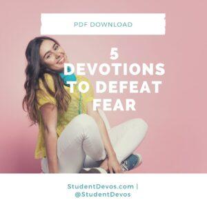 Teen Devotion on Fear