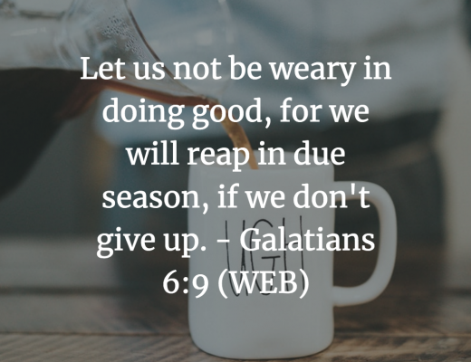 Daily Teen Devotion and Bible Verse on being weary