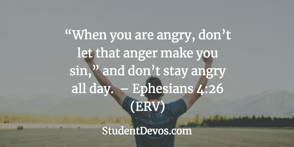 Teen Devotion on Handling Anger