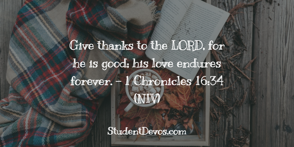 Teen Devotion on thankfulness