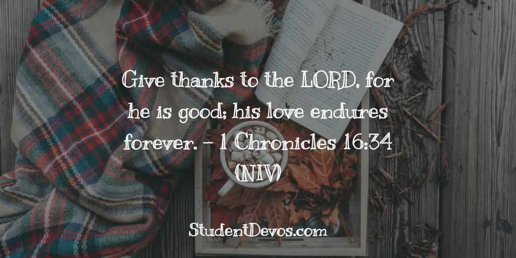 Teen Devotion on thankfulness