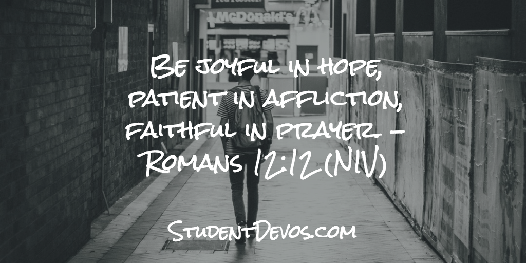 Teen Devotion on Being Patient