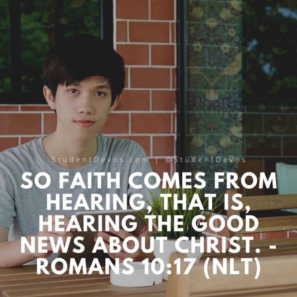 "Romans 10""17 bible verse"