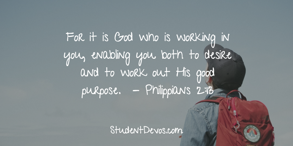 Daily Bible Verse and Devotion - Character and process