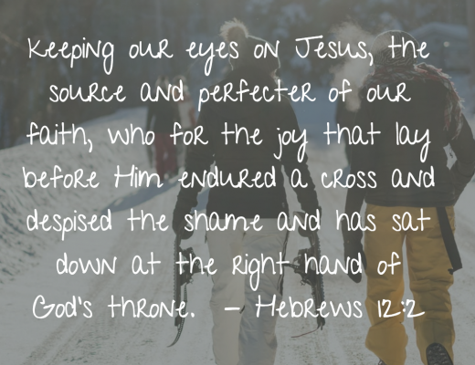 Teen Devotion and Bible Verse - Hebrews 12:2