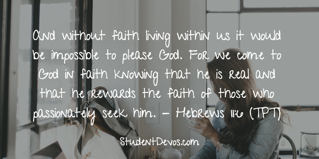Teen Devotion and Bible Verse on Faith and Knowing God