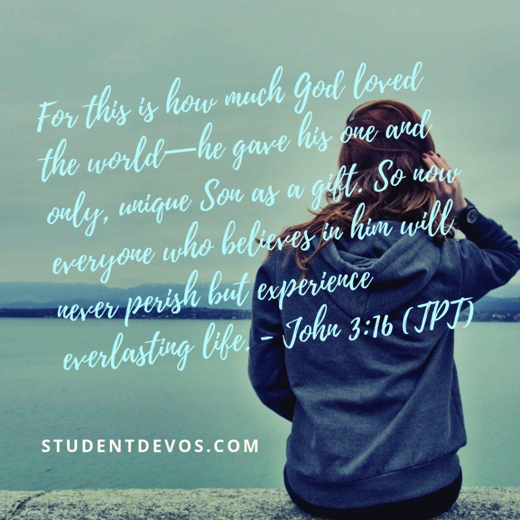 Teen Devotion on Self-Worth - John 3:16