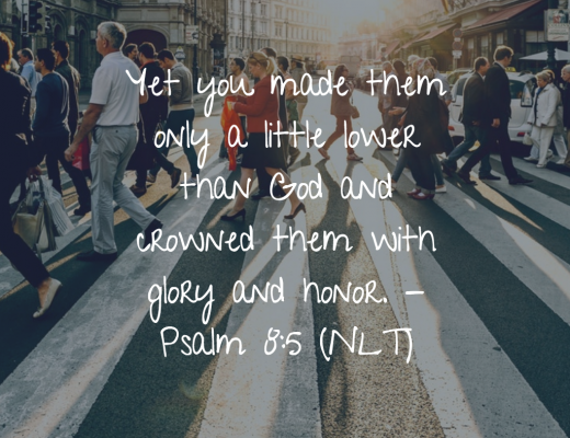 Daily Bible Verse and Devotion - Psalm 8:5